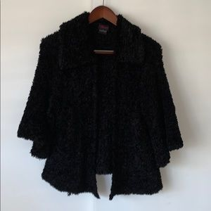 Torrid Retro Plush Black Cropped Cardigan 2X